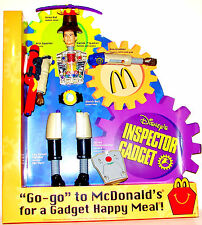 2001 INSPECTOR GADGET Movie McDonald's Happy Meal Promo Sign Action Figure Doll
