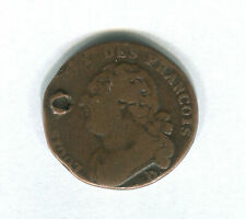 FRANCE - 12 Deniers 1791-1793 Copper Coin - KM#601 (Cancelled)