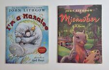 Lot of 2 John Lithgow Kids Story Books I'm A Manatee Micawber