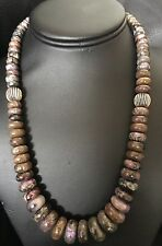 Native American Sterling Silver Sugilite Necklace 20 Inches
