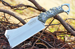 Outdoor Butcher Knife Hunting Camping Ring Fixed Blade Chopper Chopping Bones XL