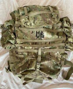 US Army OCP MULTICAM MOLLE II Trekking LARGE Rucksack Backpack SET Frame *TOP*