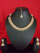 Indian Fashion Jewelry Necklace Earring Women bollywood ethnic traditional set