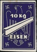 Lot Stamp Germany Ostland Revenue WWII Third Reich Eisen Steel 10 KG MNG 1