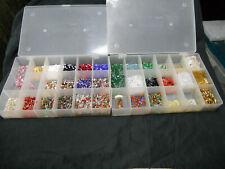 1 lb 8 ozs assorted Bugle beads, Preciosa Ornela, Czech glass, silver-lined