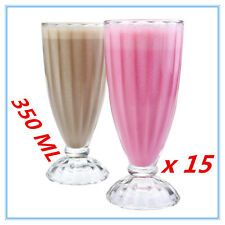15 x THICK GLASS SUNDAE GLASSES DESSERT WEDDING PARTY EVENT FUNCTION 350 ML AP