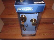 SCHLAGE ENTRANCE HANDLESET: F60 V PLY 505 605  (BRAND NEW)