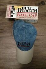 Bull Durham Cigarettes Ball Cap Blue and White