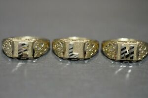 Details about  /10K YELLOW GOLD BABY INITIAL RING ~Sz 1-21//2 ~ A28 F,G,I,K,N,O,P,R,T,V,Y