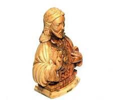Jesus Olive Wood Sculpture The Heart of Christ 25cm Catholic Handmade Bethlehem