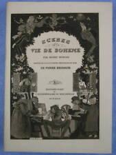 SCÈNES DE LA VIE DE BOHÈME / HENRY MURGER / 25 EAUX FORTES BRISSAUD  / 1927