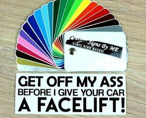 Funny Tailgating Car Van Sticker Vinyl Decal Adhesive Windscreen Bumper BLACK #2