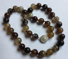 Sterling Silver Banded Agate Beads Therapeutic