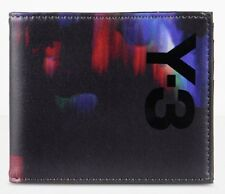 Y-3 (adidas x Yohji Yamamoto) 'Detritus' Mens Leather Printed Wallet Bi-fold NEW