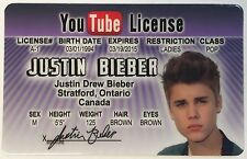 Justin Bieber - YouTube Drivers License - ID Card Novelty