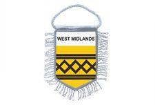 fanion mini drapeau voiture decoration souvenir blason anglais west midlands
