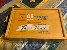 Rare vintage 1970's Chinese Goldilocks and the Three Bears Picture Puzzle Cubes