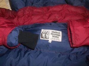 Marmot Vintage USA MADE Warm II Gore-tex Goose Down Parka Jacket Coat NICE Red