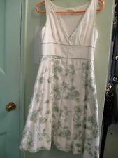 Max Studio 2 Vintage-Style Embroidered All Cotton Sundress w Petticoat Lining