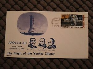 USA FIRST DAY COVER 1969 APOLLO XII THE FLIGHT OF THE YANKEE CLIPPER