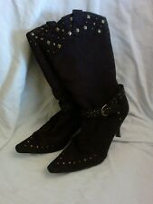 Anne Mitchelle Women's Boots with Studs. Brown.  Size 7.5N. 😐😐