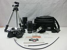 Pentax MX Super, Metz 30 BCT 4, Exakta Objektive, Slik 500G Stativ, Tasche #657