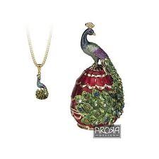 Secrets from Hidden Treasures 1045 Peacock Trinket Box