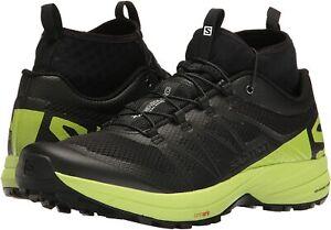 SALOMON XA Enduro Mens 12 Black/Lime Trail Running/Hiking Shoes NEW