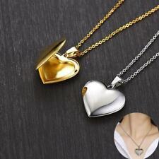 Light Heart Locket Pendants Men Women Openable Photo Frame Glossy Love Necklaces