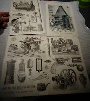 Ancien Catalogue d'Imprimeur Illustrateur de Publicité Facture Philippe Paris