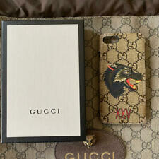 GUCCI Leather iPhone 8 SE Case Cover UNISEX WOLF
