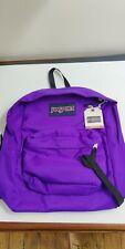 JanSport Superbreak Backpack Signature Purple JS00T50131D 100% Authentic NEW