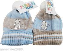tout neuf avec étiquette garçons hiver chaud Ours En Peluche bonnet 0-3 3-6