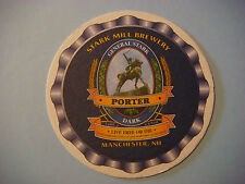 Beer COASTER ~*~ STARK MILL Brewery Porter; Manchester, NEW HAMPSHIRE Since 1994