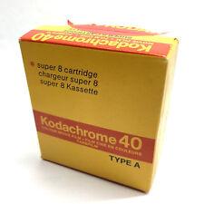 Kodak Kodachrome 40 Super 8 Movie Film Kassette Cartridge Chargeur Lomo FRIDGED!