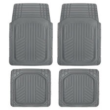 Sharper Image Deep Dish Durable All Weather Rubber Car Floor Mats - Tough Gray