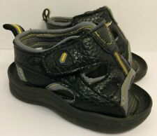 Faded Glory Baby Boys Black Sandals (Infant Size 3)