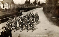 OLD PHOTO First Battalion Gordon Highlanders Marching In Formation Circa 1910