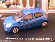 RENAULT CLIO 3 III COUPE 2005 BLEU ELIGOR 1/43 BLUE NEW BLAU MODELCAR DIE CAST