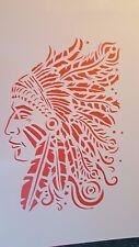 1491 Schablonen Indianer Vintage Stanzschablonen Shabby Stencil Mylarfolie Maske