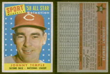 (18264) 1958 Topps 478 Johnny Temple All-Star Reds-EM