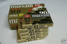 10 Maxell XLII-90 Audio Cassette Tapes