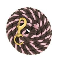 WEAVER PINK AND BROWN COTTON LEAD ROPE HORSE TACK