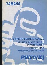 (23B) REVUE TECHNIQUE MANUEL ATELIER MOTO YAMAHA PW80 (K)