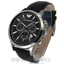 *NEW* MENS EMPORIO ARMANI BLACK CHRONO WATCH - AR2447 - RRP £250.00