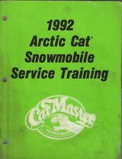 1992 ARCTIC CAT SNOWMOBILE SERVICE TRAINING  MANUAL