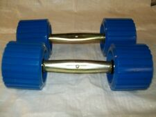 2 straight bracket and Ribbed rollers blue boat trailer