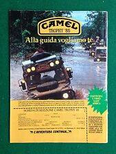 PY47 Pubblicità Advertising Clipping 24x18 cm (1984) CAMEL TROPHY 85 EAST AFRICA
