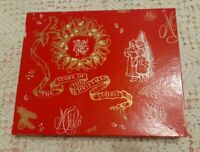 Vintage Marshall Field's Store Christmas Gift Box Red/White/Gold Santa