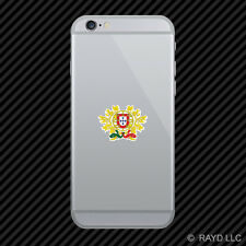 Portuguese Coat of Arms Cell Phone Sticker Mobile Portugal flag PRT PT